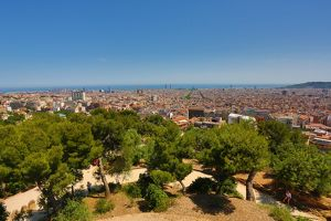 General view of the city skyline in Barcelona, Spain