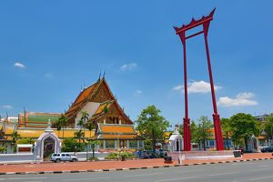 The Giant Swing, Sao Ching Cha,and Wat Suthat Temple, Bangkok, Thailand