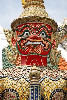 Giant Temple Guardian at the Grand Palace Complex, Wat Phra Kaew, Bangkok