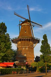 The De Gooyer Windmill in Amsterdam, Holland
