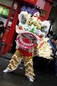 The Lion Dance at Chinese New Year 2010 in London