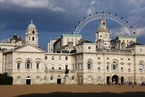 Millennium Eye behind Horseguards Parade, London, England.
