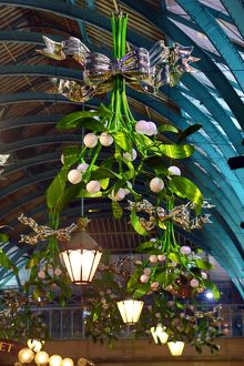 Mistletoe Christmas Decorations in Covent Garden, London