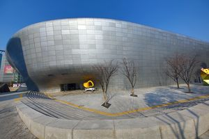 Modern architecture of the Dongdaemun Design Plaza and Culture Park (DDP) in Seoul, Korea