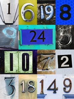 Montage of a number of numbers