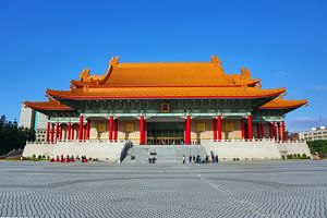 The National Concert Hall in the Chiang Kai Shek Memorial Park in Taipei, Taiwan