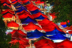 Night Market street market in Luang Prabang, Laos