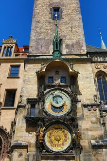 The Orloj or Astronomical Clock on the Old Town City Hall in Old Town Square in Prague