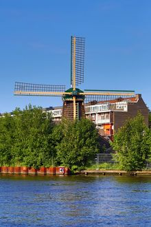 De Otter paltrok windmill in Amsterdam, Holland