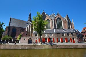 The Oude Kerk, old church, in Amsterdam, Holland