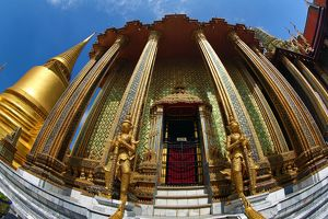 Phra Siratana Chedi Golden Stupa at the Wat Phra Kaew Temple complex of the Temple