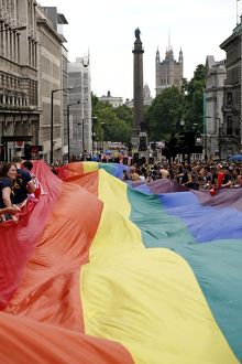 Rainbow Flag at London Pride Parade 2009