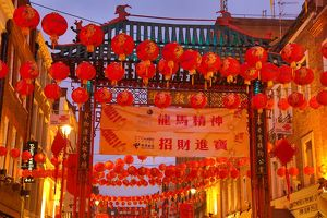 Red Chinese Lanterns for Chinese New Year in Chinatown, London