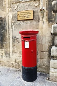 Red English Postbox in Valletta, Malta