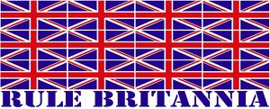 Red, White and Blue Union Jack British Flag Rule Britannia Souvenir