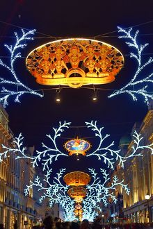 Regent Street Christmas Lights switched on, London, England