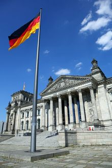The Reichstag Building in Berlin, Germany