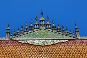 Roof decoration on Wat Nong Sikhounmuang Temple, Luang Prabang, Laos