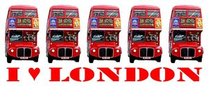 Souvenir I love London Red Double-Decker Routemaster Bus