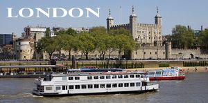Souvenir of the Tower of London and River Thames, London, England