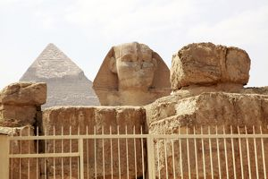 The Sphinx in Cairo, Egypt