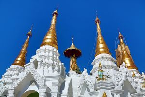 Spires at the Shwedagon Pagoda, Yangon, Myanmar