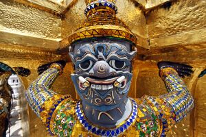 Yaksha Demon Statue at the Grand Palace Complex, Wat Phra Kaew, Bangkok