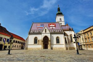 St. Mark's Church in St. Mark's Square in Zagreb, Croatia