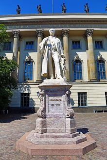 Statue of Hermann von Helmholtz in front of the Humboldt University in Berlin, Germany