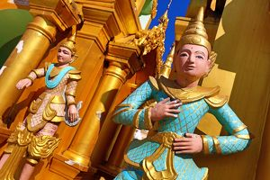 Statue at the Shwedagon Pagoda, Yangon, Myanmar