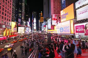 Times Square at night in New York
