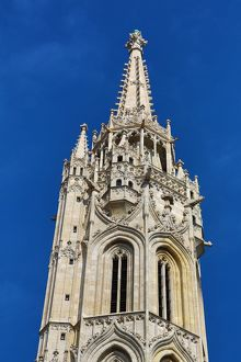 Tower of the Matthias Church in Budapest, Hungary