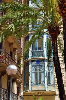 Traditional building in Barcelona, Spain