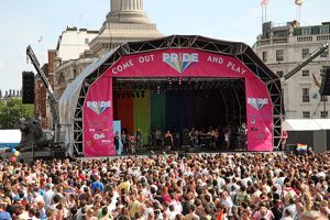 Trafalgar Square stage at London Pride Parade 2009