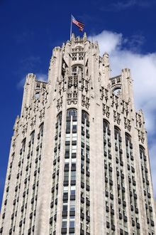 Tribune Building, Chicago, Illinois, America