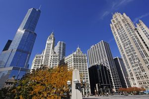 Trump Tower and Wrigley Building, Chicago, Illinois, America