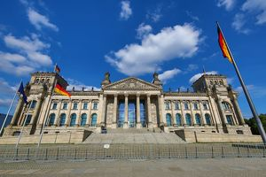 View of the Reichstag Building in Berlin, Germany