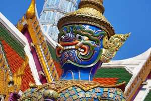 Virulhok Giant Guardian statue at Wat Phra Kaew Temple, Bangkok