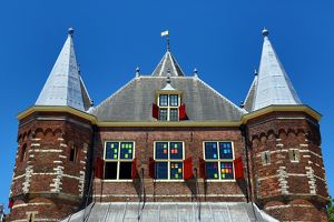 In De Waag, 15th century city gate which is now a restaurant in Nieuwmarkt Square