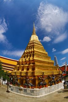 Wat Phra Kaew Temple complex of the Temple of the Emerald Buddha in Bangkok, Thailand