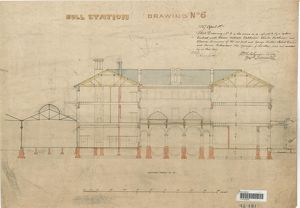 Hull Station - Drawing No. 6 - Section through C-D [1847]