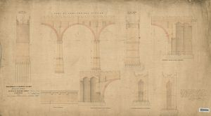 York, Newcastle And Berwick Railway - Auckland Branch - Details Of Durham Viaduct [c.1856]