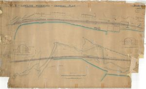 G.W.R. Dawlish Widening - General Plan including Section of Kennaway Tunnel [N.D.]
