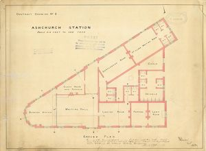 Ashchurch Station Contract Drawing No. 2 [1867]