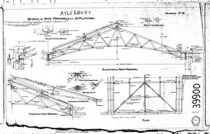 Aylesbury - Details of Roof Principals etc Up Platform [N.D.]