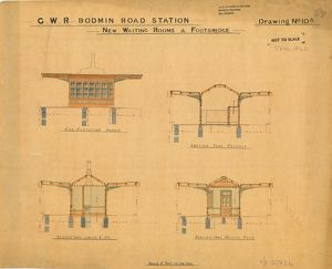 G.W.R Bodmin Road Station - Drawing no.10A New Waiting Rooms and Footbridge [c1887]