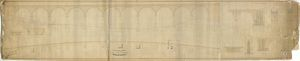 York, Newcastle and Berwick Railway - Auckland Branch - Durham Viaduct - Plan, Elevation