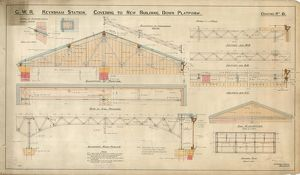 G.W.R Keynsham Station Drawing no.6 - Covering to New Building Down Platform - general plan