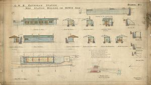 G.W.R Keynsham Station drawing no. 1 - New Station Building on Down Side - plan of the station