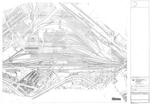 Doncaster Station - Track Layout [c1974]